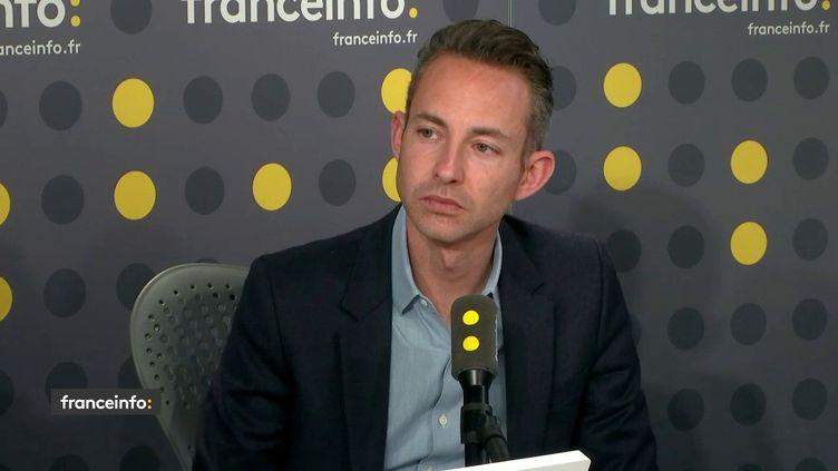 Ian Brossat, adjoint à la maire de Paris, chargé du logement, le 3 avril 2019. (RADIO FRANCE / FRANCEINFO)