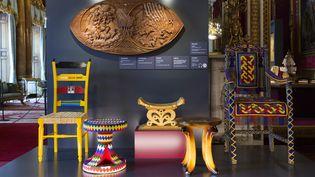 Du mobilier précieux offert par différents dirigeants africains à la reine Elizabeth II.  (Photoshot / MaxPPP)
