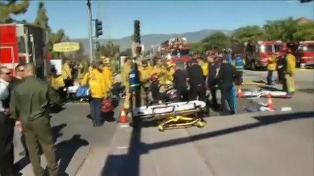 Les victimes de la fusillade de San Bernardino évacuées