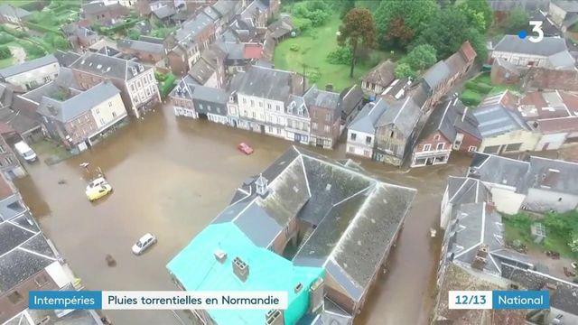 Intempéries : des pluies torrentielles ont touché la Normandie