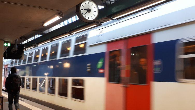 Passage d'un RER à la station Avenue du Président Kennedy (STÉPHANIE BERLU / FRANCE-INFO)