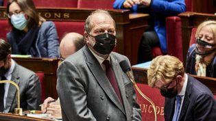 Le ministre de la Justice,Eric Dupont-Moretti, à l'Assemblée nationale, le 4 mai 2021. (ANTONIN BURAT / HANS LUCAS / AFP)