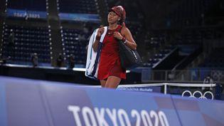 La Japonaise Naomi Osaka, deuxième joueuse mondiale, a été éliminée en huitièmes de finale. (KEITA IIJIMA / YOMIURI)