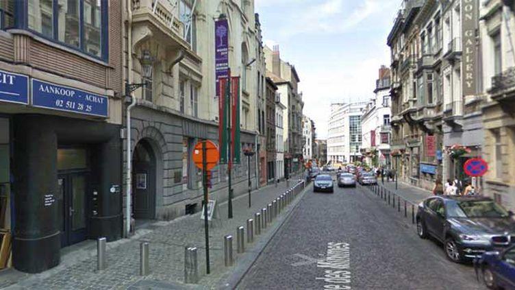 (La fusillade qui a fait trois morts samedi à Bruxelles s'est produite vers 15h50 rue des Minimes, à proximité de l'entrée du musée Juif de Belgique © DR)