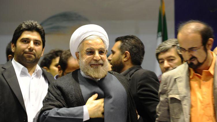 Hassan Rohani, le 12 juin 2013. (FARNOOD / SIPA)