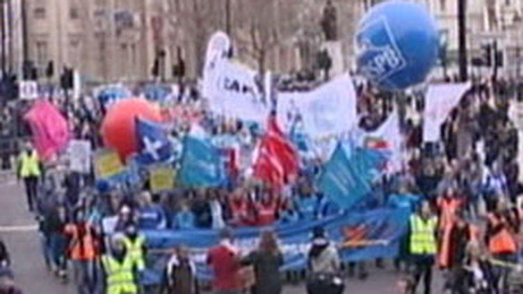 20.000 personnes ont participé samedi à une marche dans le centre de Londres