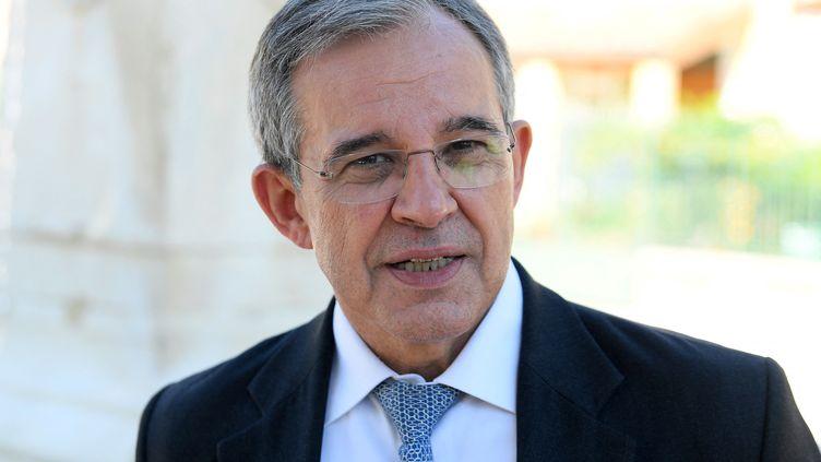 Le candidat aux élections régionales en PACA pour le RN, Thierry Mariani, le 4 mai 2021. (NICOLAS TUCAT / AFP)