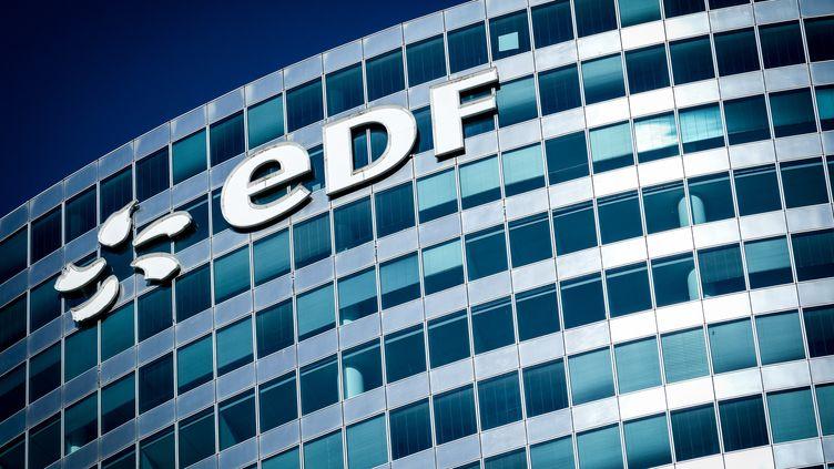 Le siège d'EDF, à Puteaux (Hauts-de-Seine), le 1er juin 2019. (ELKO HIRSCH / HANS LUCAS / AFP)