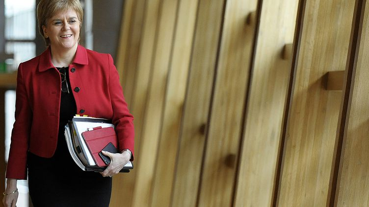 La Première ministre écossaise, Nicola Sturgeon, à Edimbourg, le 28 mars 2017. (ANDY BUCHANAN / AFP)