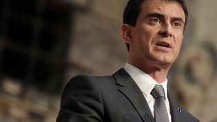 Le Premier ministre Manuel Valls,le 13 février 2015 à Honfleur (Calvados). (CHARLY TRIBALLEAU / AFP)