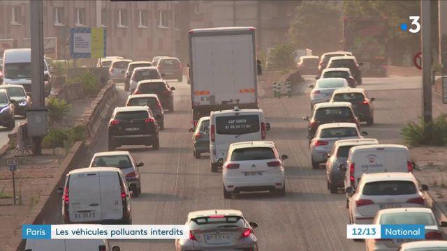 Paris : les véhicules polluants interdits