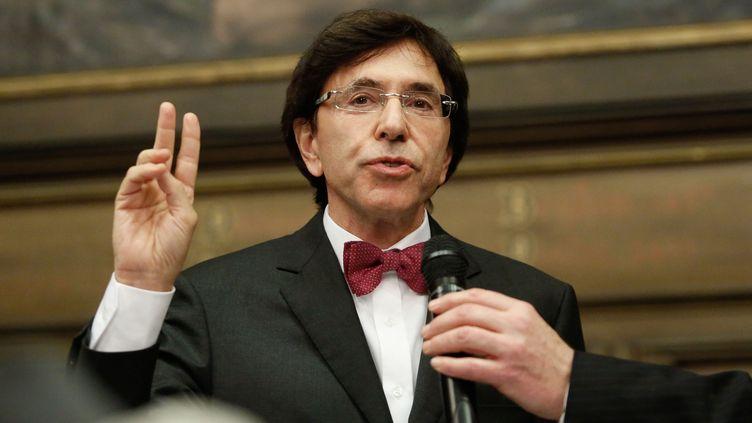 Elio Di Rupo, le Premier ministre belge, le 3 décembre 2012 à Mons (Belgique). (NICOLAS LAMBERT / BELGA)