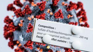 Des comprimés d'hydroxychloroquine. (VOISIN / PHANIE / AFP)