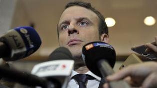 Emmanuel Macron répond aux questions des journalistes, le 14 février 2017, à Alger (Algérie). (AFP)