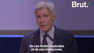 VIDEO. Le plaidoyer pour la planète et la jeunesse de Harrison Ford (BRUT)
