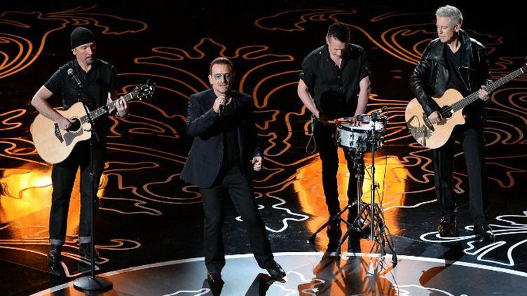 U2 sur scène aux Oscars 2014  (KEVIN WINTER / GETTY IMAGES NORTH AMERICA / AFP)