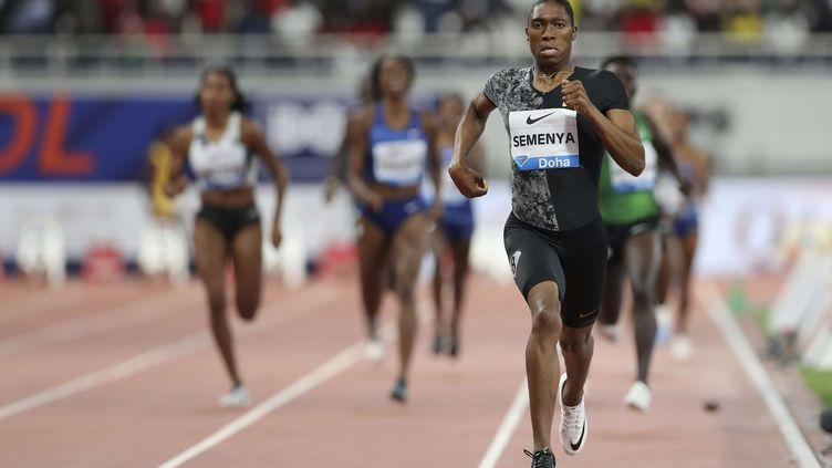 La Sud-Africaine, Caster Semenya, est une athlète hyperandrogène.  (KAMRAN JEBREILI/AP/SIPA / AP)