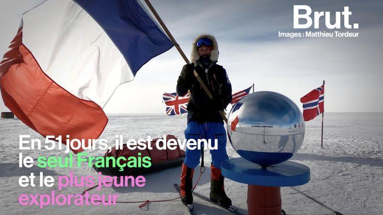 VIDEO. 1150 km en solitaire, sans assistance et sans ravitaillement pour rejoindre le pôle Sud… L'exploit de Matthieu Tordeur (BRUT)