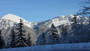Le massif des Bauges (Savoie) en janvier 2015. (ROGER GINOLLIN / MAXPPP)
