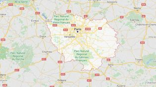 La région Île-de-France, dans le centre-nord de la France. (GOOGLE MAPS)