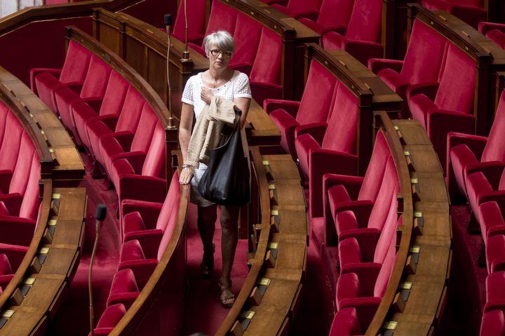 L'ancienne députée écologiste Véronique Massonneau, le 22 juin 2016 à l'Assemblée nationale. (MAXPPP)
