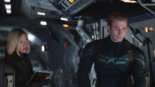 "Scarlett Johansson (La Veuve Noire) et Chris Evans (Captain America) dans ""Avengers : Endgame"" (2019). (MARVEL STUDIOS)"