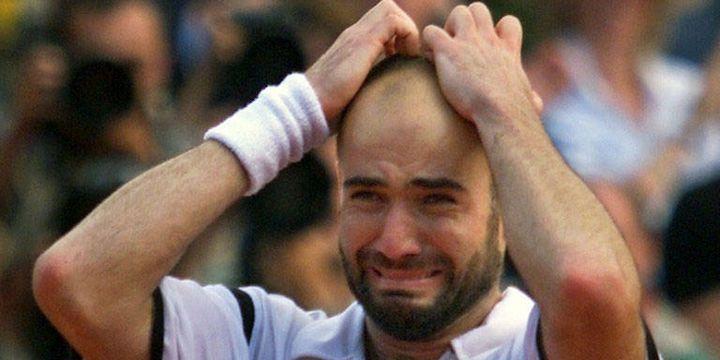 Andre Agassi après son succès en 1999