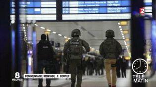 Un déséquilibré a attaqué des voyageurs à la hache à Düsseldorf. (FRANCE 2)