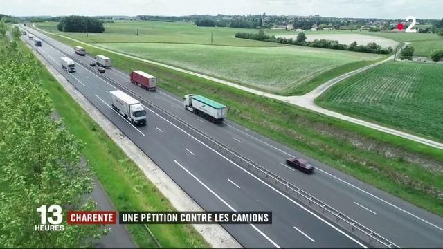 Charente : une pétition contre les camions de la RN10