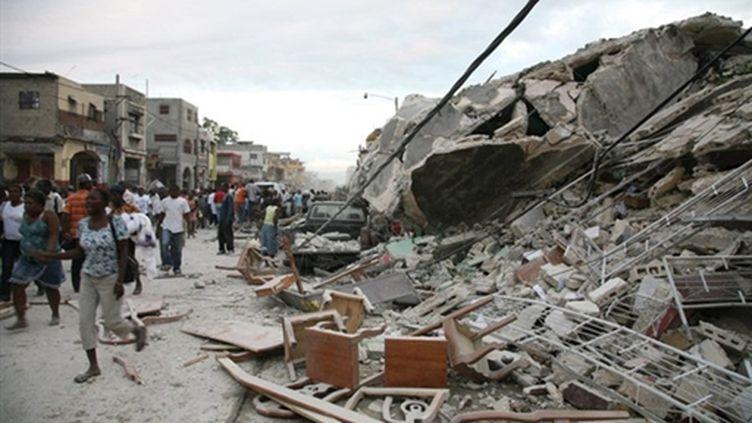 Immeubles effondrés en Haïti (AFP)