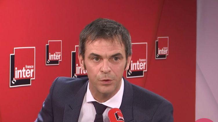 Olivier Véran, le ministre des Solidarités et de la Santé sur France Inter, le 18 février 2020. (FRANCEINTER / RADIOFRANCE)