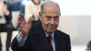 Charles Pasqua aucongrès fondateur des Républicains, à Paris, le 30 mai 2015. (STEPHANE DE SAKUTIN / AFP)