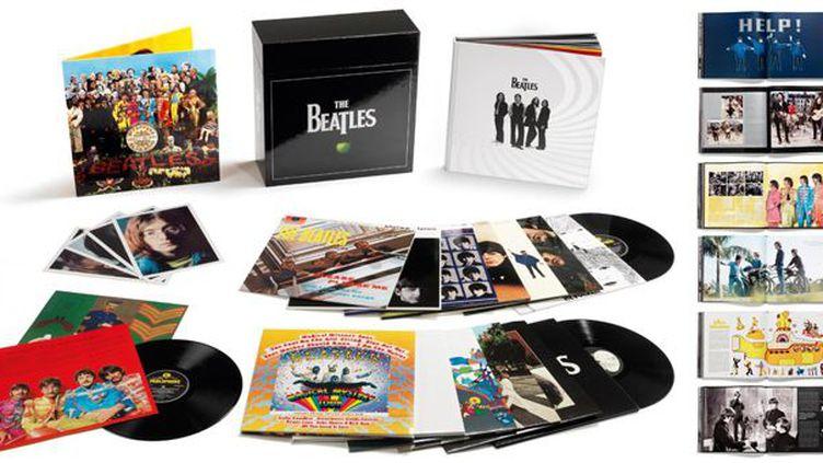 Les albums des Beatles en version vinyle, et leur coffret collector  (Apple / Emi)