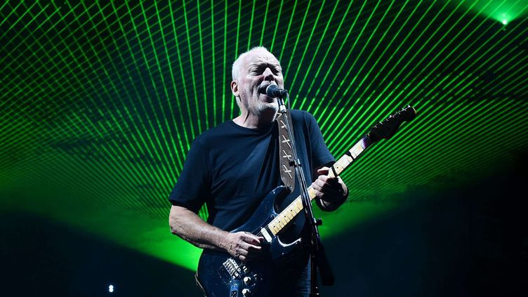 David Gilmour en concert au Royal Albert Hall de Londres le 23 septembre 2015. (GOODGROVES/REX SHUTTERS/SIPA / REX)