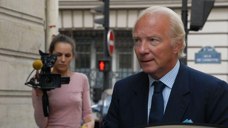 L'ex-ministre de l'Intérieur, Brice Hortefeux, le 19 septembre 2014 à Paris. (CITIZENSIDE / PATRICE PIERROT / AFP)
