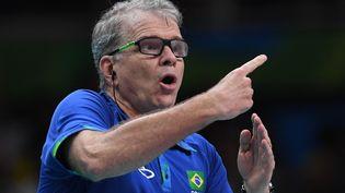 Bernardo Rezende, sélectionneur du Brésil lors des Jeux olympiques de Rio, en 2016. (KIRILL KUDRYAVTSEV / AFP)