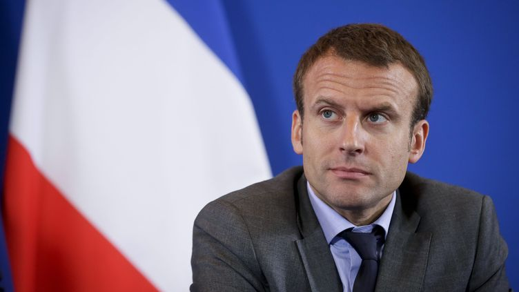 Le ministre de l'Economie, Emmanuel Macron, le 28 juillet 2015, à Bercy (Paris). (  MAXPPP)