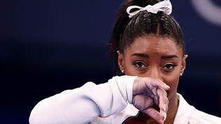 La gymnaste américaine Simone Biles déclare forfait pour le concours général individuel des Jeux de Tokyo. (LOIC VENANCE / AFP)