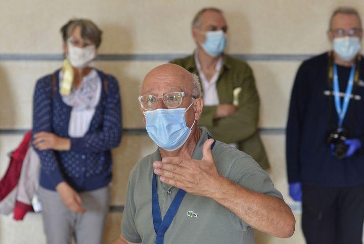 Alain Goudard, créateur de l'ensemble Résonnance contemporaine, Ambronay, 20 septembre 2020. (BERTRAND PICHENE)