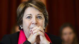 L'avocate et ancienne ministre de l'environnement,Corinne Lepage, en mars 2016, à Genève. (FABRICE COFFRINI / AFP)