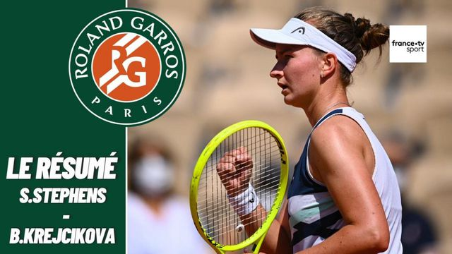 Les meilleurs moments du match Sloane Stephens - Barbora Krejcikova