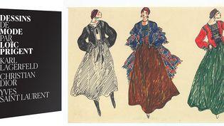 Yves Saint Laurent, collection haute couture automne-hiver 1976  (Fondation Pierre Bergé – Yves Saint Laurent, Paris pour le croquis Yves Saint Laurent)