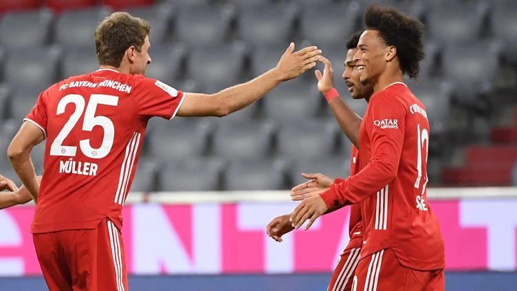 Le Bayern Munich s'est amusé pour l'ouverture de la Bundesliga. (MATTHIAS BALK / DPA)