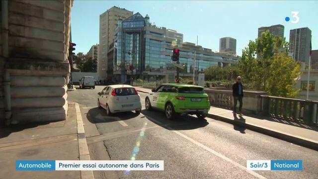 Premier essai d'une voiture autonome dans Paris