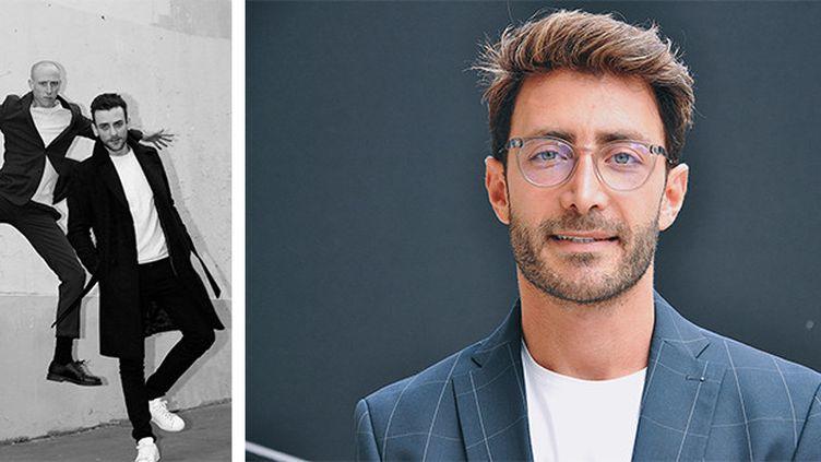 Simon Delacour et Bastien Beny (co-fondateurs de domestique, à gauche) et Daniel Essa (créateur de sneakers de luxe, à droite) (Indira Widmer (domestique) + Karim Hannah (Daniel Essa))