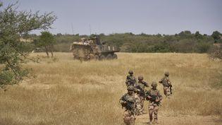 Des soldats français de la forceBarkhane, le 12 novembre 2019, au Mali. (MICHELE CATTANI / AFP)