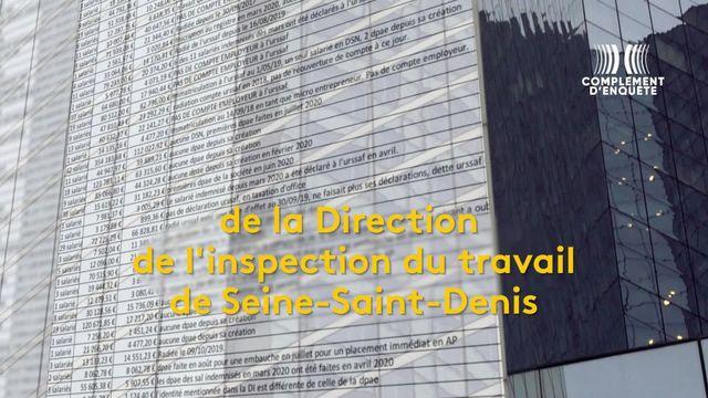 Un document confidentiel de la Direction de l'inspection du travail de Seine-Saint-Denis répertorie une soixantaine de sociétés suspectées de fraude au chômage partiel.