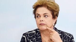 Dilma Rousseff, le 6 mai 2016. (EVARISTO SA / AFP)