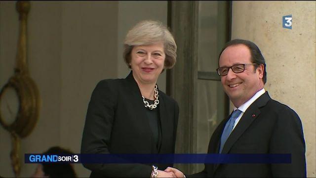 Theresa May à l'Elysée