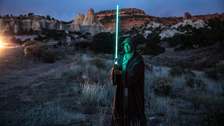 (Darreck Franlin, fan numéro un de Star Wars chez les Navajos © Matthieu Mondoloni / France Info)